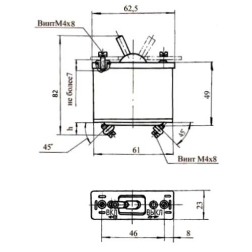 Габаритные и установочные размеры автоматов защиты сети АЗР 2-80