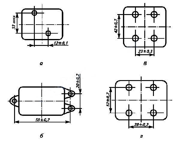 Габаритные размеры переключателя серии ДП-1
