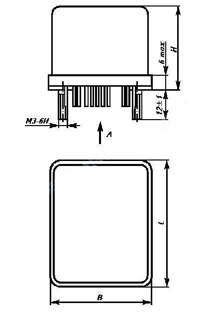 Установочные и присоединительные размеры переключателя серии ДП-1