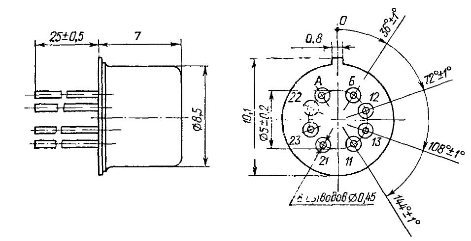 Габаритные и установочные размеры реле РЭК 11