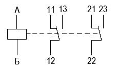 Схема электрическая принципиальная реле РЭК-21