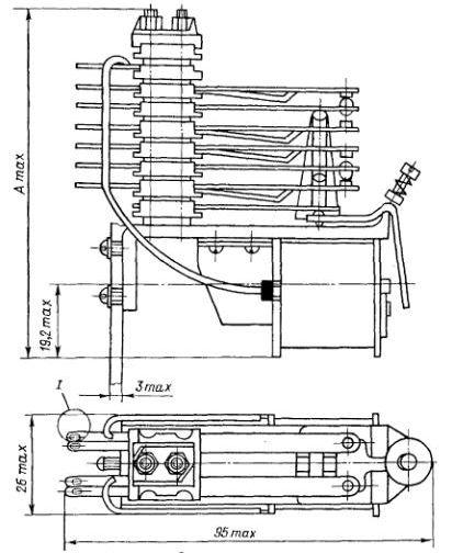 Габаритные размеры реле РЭН-20