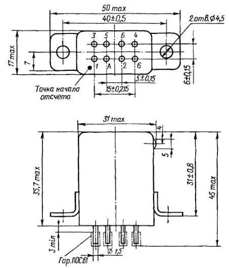 Габаритные размеры РЭН-34